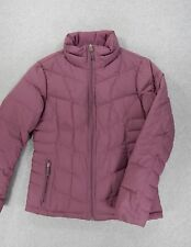 Lands End Goose Down Insulated Winter Coat Jacket (Womens Small 6/8) Purple