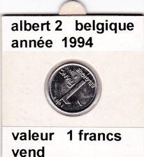 FB )pieces de albert 2  1 francs 1994  belgique