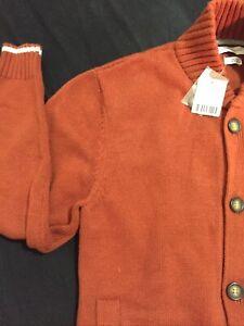 Mens Urban Outfitters Cardigan Sweater S Orange Red Original 89.00