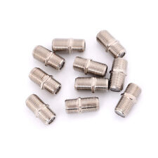 10pcs Aluminium Alloy Connector F Plug Coupler Adapter HD TV Coax Cable HU