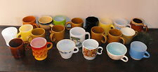 OLD VTG MID CENTURY COLORED COFFEE CUP MUG MILK GLASS FIRE KING JAPAN LOT OF 23