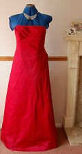 NEW 2 x Bridesmaid Outfits (sz 10&14) Debut Red Satin Maxi Dress dresses Wedding