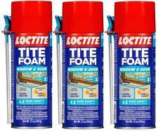 (3) Loctite Tite Foam Window & Door 4 X More Density Expands No Blowing 12 Oz