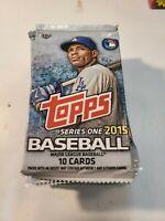 2015 Topps Series 1 Hobby Baseball Pack 10 cards