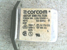 Corcom 6EF2F EMI Filter 6 Amp 6A 120/250VAC IEC380 connector NEW