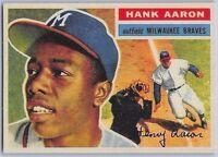 "1956  HANK AARON - Topps ""REPRINT"" Baseball Card # 31 - MILWAUKEE BRAVES"