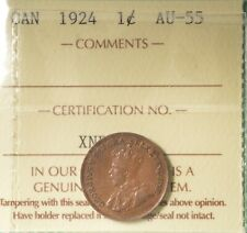 1924 - Canada Penny - Graded - ICCS AU-55 - SERIAL# XNP 780