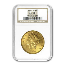1904-S $20 Liberty Gold Double Eagle MS-63 NGC - SKU #79258