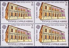 Cyprus 1990 MNh Blk, CEPT Europa, Post Office, Architecture, Building - A45