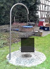 Schwenkgrill Edelstahl Grillgalgen 70 cm Kurbel Beleuchtung Dreibein Libatherm