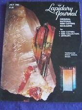 LAPIDARY JOURNAL - TOURMALINE - July 1983 v 37 # 4