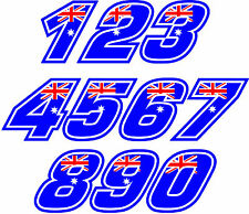 Casey Stoner RACE NUMBERS Decal size apr. 75MM HIGH( PICK YOUR NUMBERS)