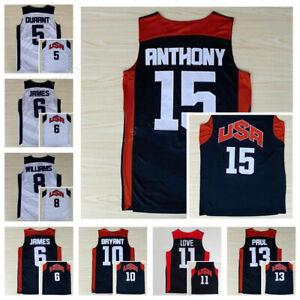 2012 London Bryant James Durant Anthony Westbrook Chris Paul Team USA Jerseys