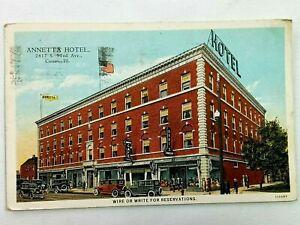 Vintage Postcard 1932 Annetta Hotel S. 52nd Ave Cicero IL Illinois