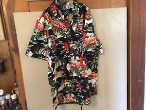 Hawaiian Shirt Christmas Theme Never Worn Clean with Lie