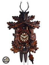 coo-coo/cuckoo clock black forest mechanical 1-day deer hunting german wood new