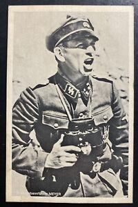 Mint Germany Picture PPC Postcard Waffen SS Sturmbannführer Meyer