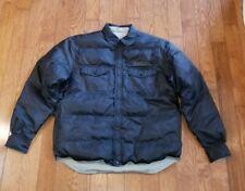 HARLEY DAVIDSON Reversible Gray Black Down Feather Coat Jacket Men's LARGE