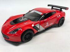 """New Kinsmart 5"""" Chevy Chevrolet Corvette C7 R Diecast Model Toy Car 1:36 Red"""