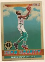 2019-20 NBA HOOPS PREMIUM STOCK JAYLEN BROWN #13 ZERO GRAVITY PACK FRESH SHARP