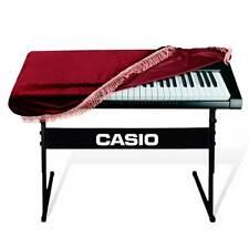 Copertura anti polvere sporco copri tastiera pianola 61 tasti velluto BORDEAUX