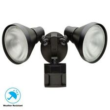 Defiant 180 Degree Black Motion-Sensing Outdoor Security Light Bulbsaver 703390