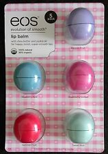 EOS Lip Balm Lippenbalsam Lippenpflege 5er Pack aus den USA! Neu! OVP!