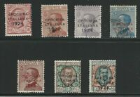 Italy, 1924, Scott #174A-174G, Used Complete Set