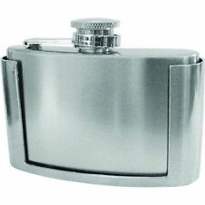 Belt Buckle Stainless Steel 3oz Hip Flask Boxed Motorcycle Biker Liquor HIP-0006
