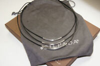 SILPADA Sterling Silver Multi Strand Leather Necklace N1571