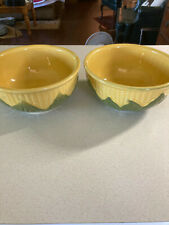 2 VINTAGE SHAWNEE POTTERY CORN KING MIXING BOWLS #8 NICE CONDITION
