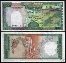 SRI LANKA CEYLON 1000 RUPEES P101 1987 PEACOCK DAM LARGE UNC CURRENCY BILL NOTE