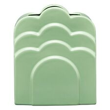 NEW FOR 2020 - Orla Kiely Ceramic Layered Vase - Buttercup Flower Pastel Green!
