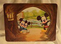 Walt Disney World Postcard Large Vintage Mickey Mouse Tom Sawyer  5x6.75  Unused