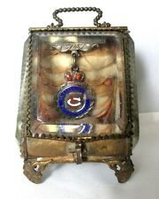 PALAIS ROYAL French Jewelry Box w/ MEDAL & GILT SURROUND c1800 original ANTIQUE