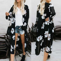 Women Loose Blouse Summer Boho Chiffon Coat Shawl Kimono Cardigan Cover Tops