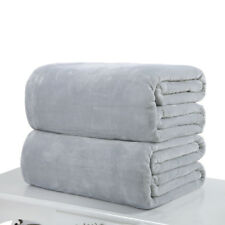 Soft Solid Warm Micro Flannel Throw Blanket Rug Plush Fleece Bed Quilt Sofa Home