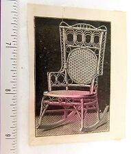 Heywood Wakefield Ratton Co. Rocking Chair, 231 State St, Chicago Trade Card F51