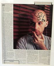 MOBY HAND SIGNED MAGAZINE ARTICLE 41 cm x 31 cm