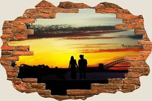 3D Hole in Wall A Dreamy World View Wall Stickers Film Mural Art Decal 56