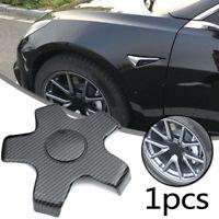 For Tesla Model 3 Wheel Center cap Hubcaps Emblem Accessories Black Durable