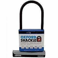 Oxford Hercules Shackle Lock Large 180mm x 320mm Bronze Rated Bicycle D Lock