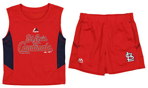 Baseball MLB Toddlers Arizona Cardinals Foul Line Shorts Set, Red