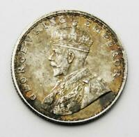 INDIA SILVER HALF RUPEE COIN 1917 King George V