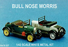 Bull Nose Morris Oxford  car kit - white metal model to assemble and paint
