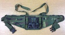 1ST GEN WOODLAND CAMO MOLLE MOLDED WAIST BELT NICE SHAPE USA MADE ARMY ISSUE