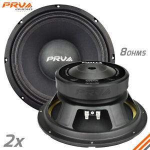 """2x PRV Audio 10MB400 Midbass Car Audio 10"""" Speakers 8 ohm 10MB PRO 800 Watts"""