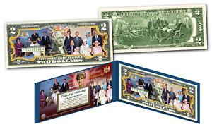 BRITISH MONARCHY / ROYAL FAMILY Diana Elizabeth THEN & NOW Official U.S. $2 Bill