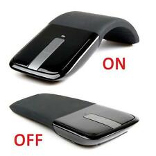 Hot 2.4GHz Arc Touch Wireless Optical Mouse  With USB Receiver Fr PC Laptop Book