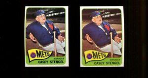1965 TOPPS #187 CASEY STENGEL HOF LOT OF 2 EXMT B259151